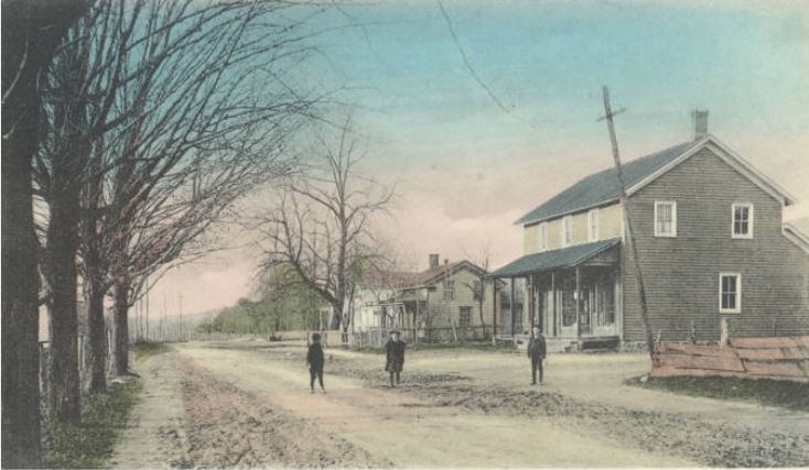 Postcard of Main Street, Lackawack, NY